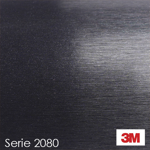 Vinilo Negro metálico cepillado BR212 3M 2080